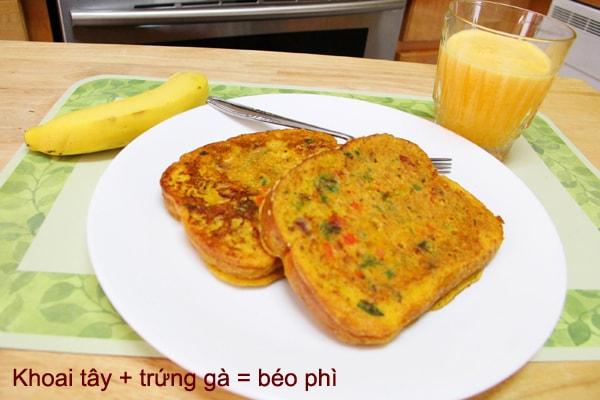 Khoai tây + trứng gà = béo phì