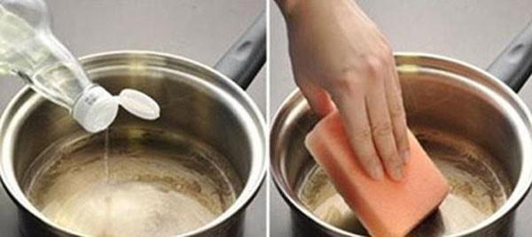 Hướng dẫn tẩy vòi nước inox, gật gù vòi sen tắm bằng giấm ăn