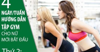 Hướng dẫn tập gym cho nữ mới bắt đầu 4 ngày/tuần (Phần 1)