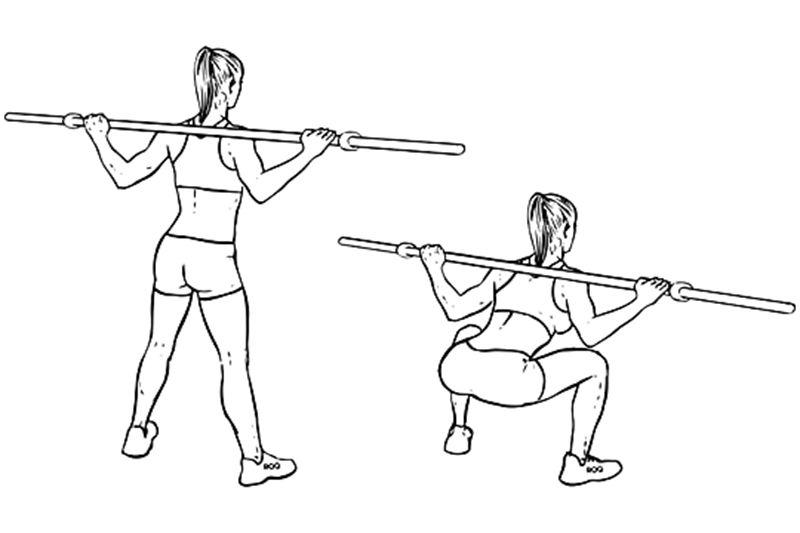 Bài tập Squat với tạ đòn