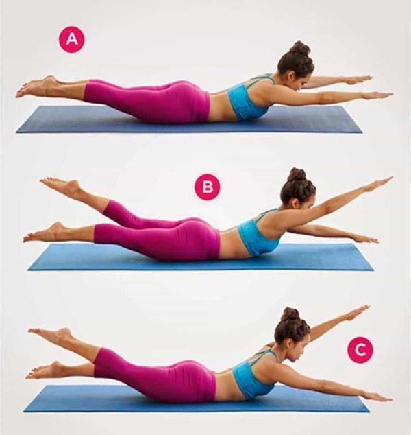 Bài tập duỗi tay và chân tập bụng