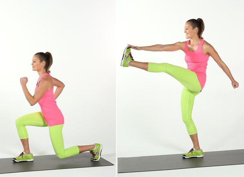 Bài tập Reverse Lunge and Kick