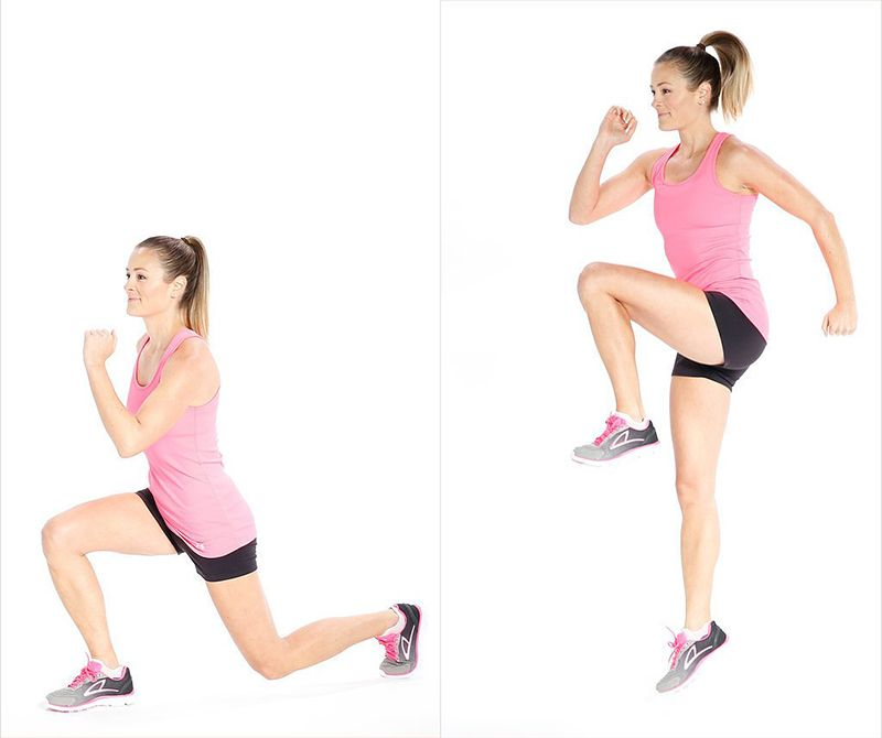 Bài tập Reverse Lunge and Hop