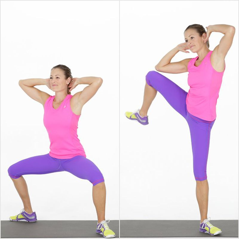 Bài tậpSumo Squat and Side Crunch
