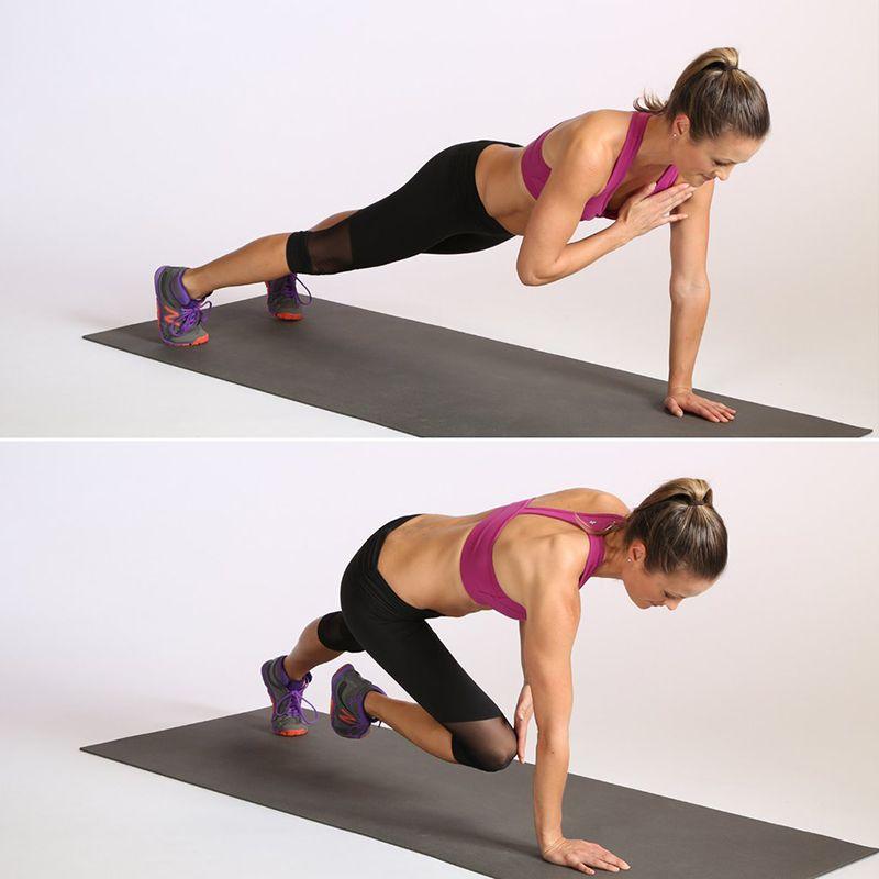 Bài tậpPlank With Alternating Shoulder and Knee Tap