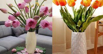 Cách chọn bình hoa đẹp để phòng khách