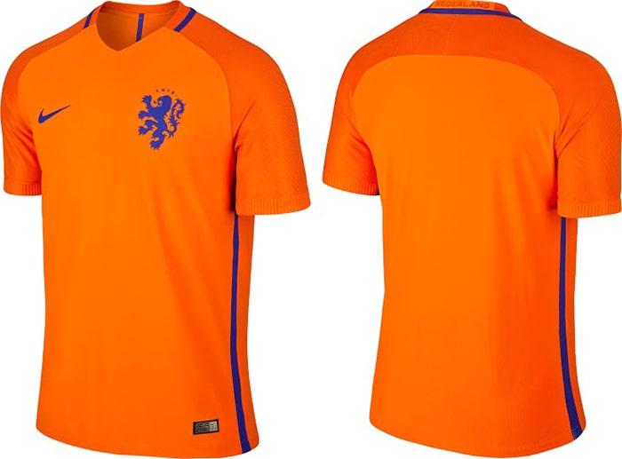 Áo bóng đá đội tuyển quốc gia Hà Lan có màu da cam nổi bật và đặc trưng