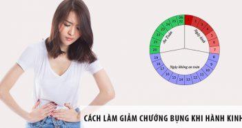 Làm thế nào giảm tình trạng chướng bụng khi hành kinh?