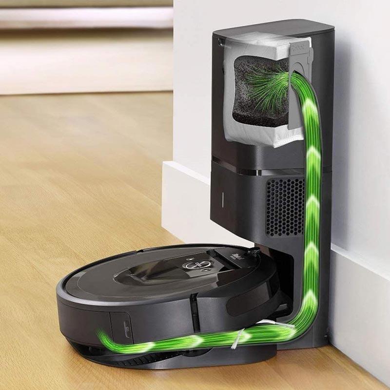 IRobot Roomba i7 Plus có khả năng tự động đổ rác