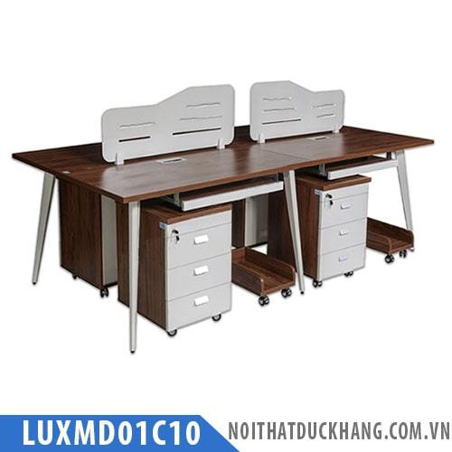 Cụm bàn làm việc 4 chỗ ngồi LUXMD01C10