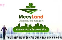 Thuê nhà nguyên căn quận Tân Bình nhờ ứng dụng MeeyMap