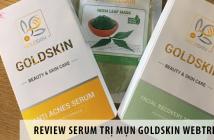 Review serum trị mụn goldskin webtretho
